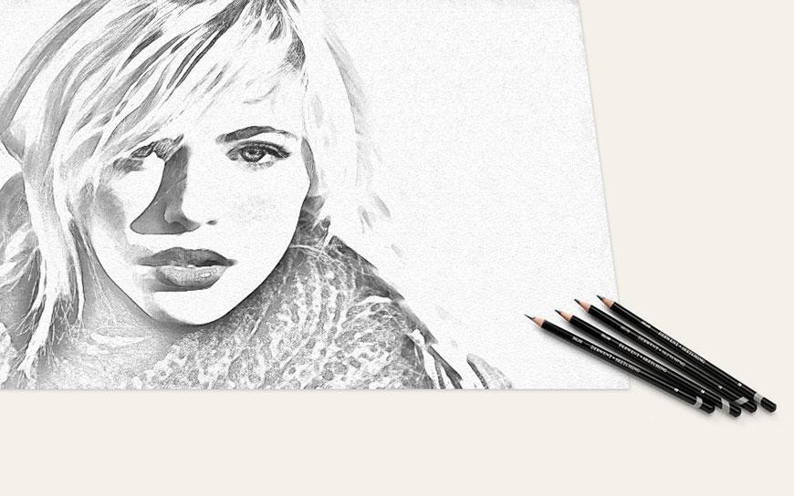 素描效果:用PS制作人像彩色铅笔画效果,PS教程,思缘教程网