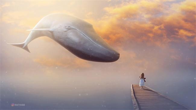 PS教程!教你合成梦幻鲸鱼场景(含素材)