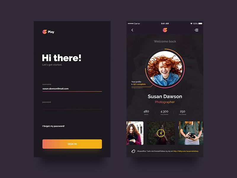 个性鲜明的用户中心页面设计