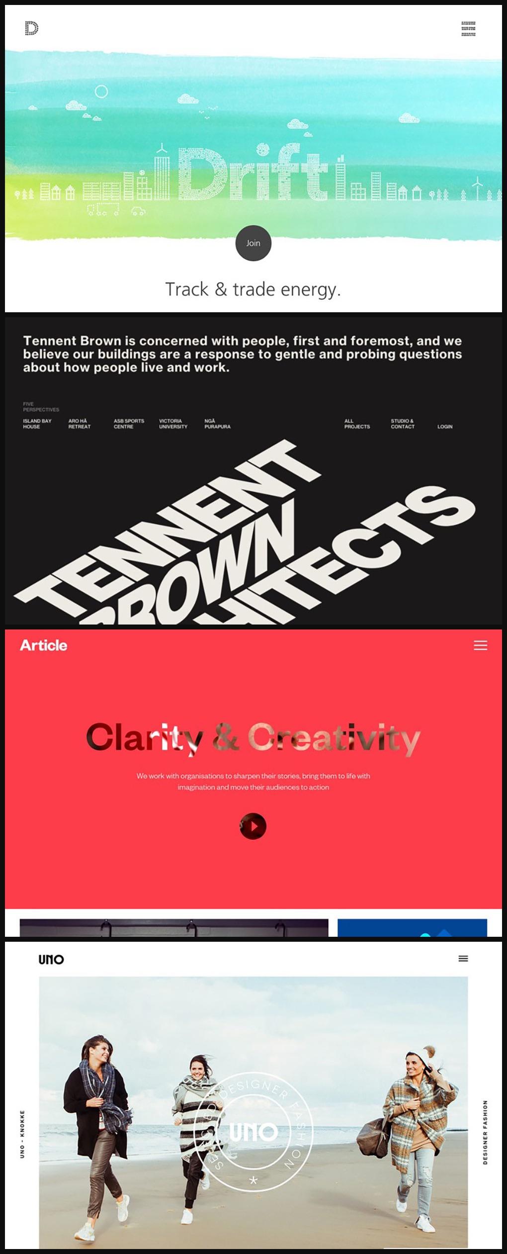 36个超赞的网站Banner字体效果设计