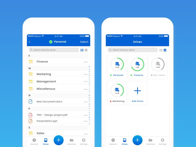 数据时代!12个云端存储App设计灵感