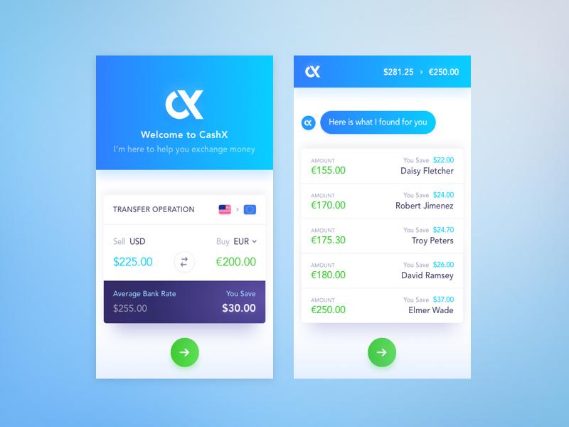 12个外币汇率转换界面设计灵感