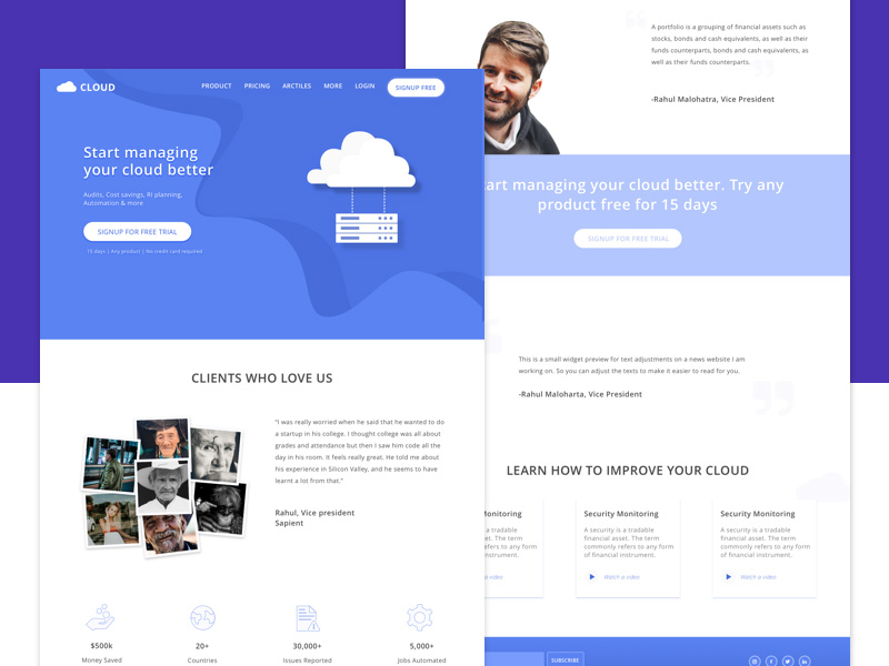 14个云服务类型网页设计灵感