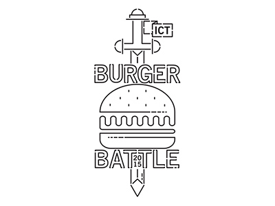 大口吃!20款汉堡元素Logo设计
