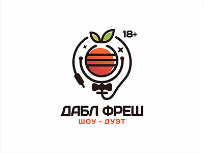 柑橘与柠檬!20款水果元素Logo设计