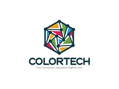 南亚风情!20款色彩线条Logo设计