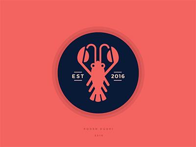 虾兵蟹将!20款虾元素Logo设计