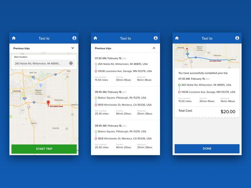 便捷出行!12款打车App界面设计灵感