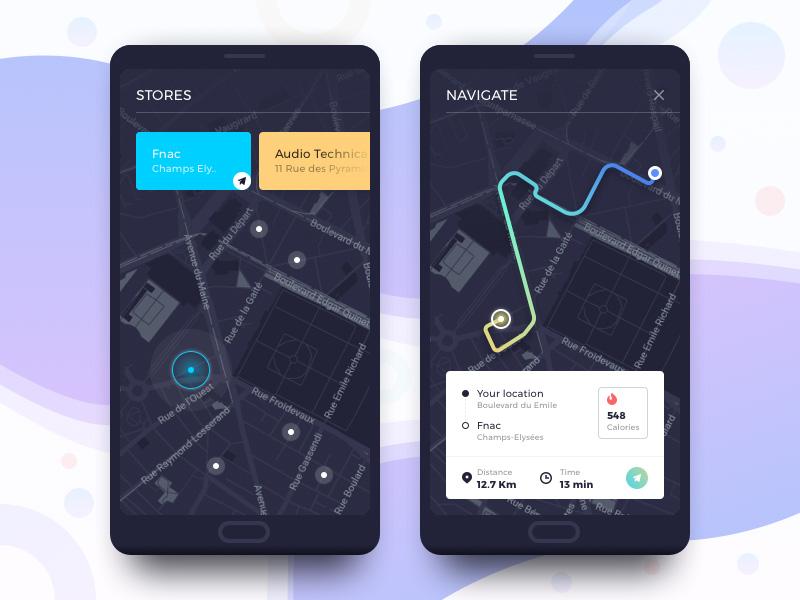路径规划成功!12个地图导航页设计灵感