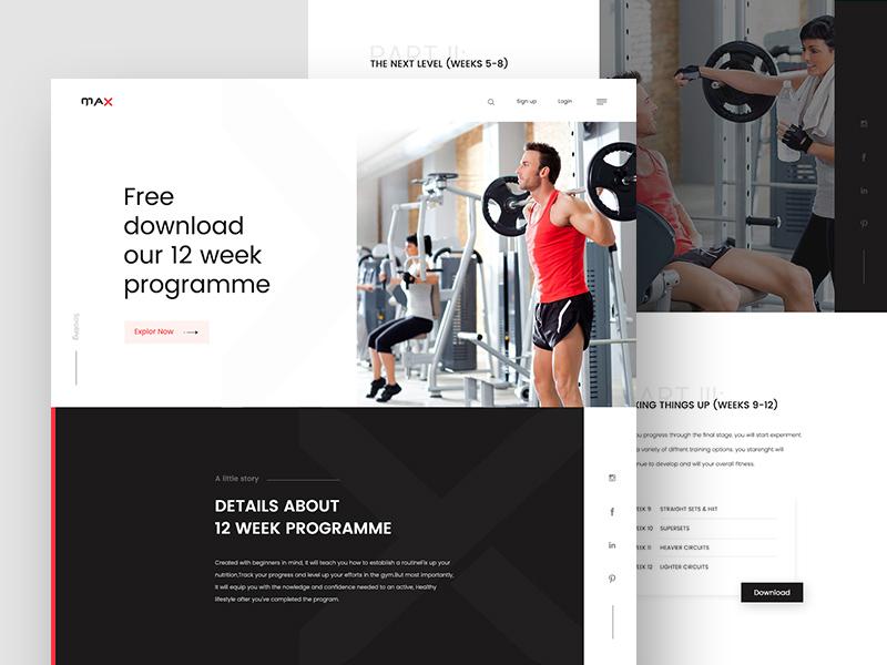 画面太平淡?这12款网页教你如何设计富有运动感的页面