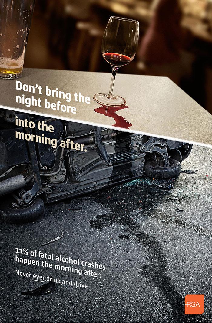 一组关于安全驾驶的公益海报
