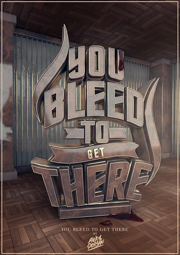 来自Alexis Persani的14款3D立体字海报