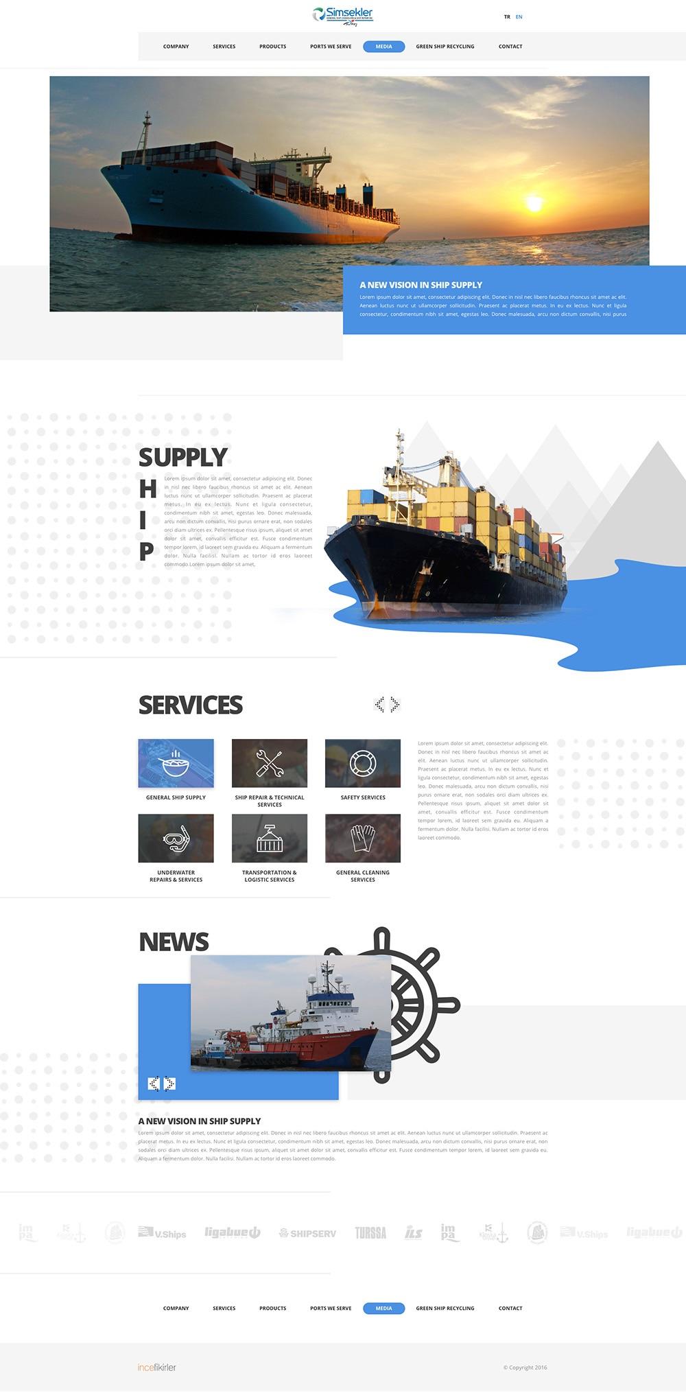 物流货运服务类官网设计