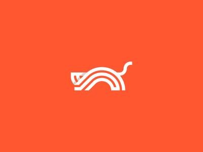 单色折叠!20款动物字母Logo设计