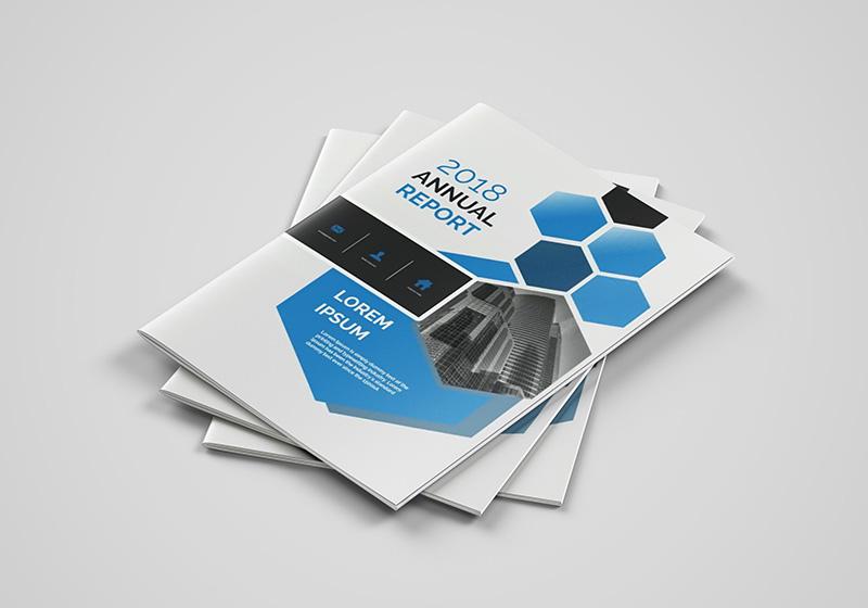 PS教程!教你绘制科技感企业宣传册(含源文件和模板)