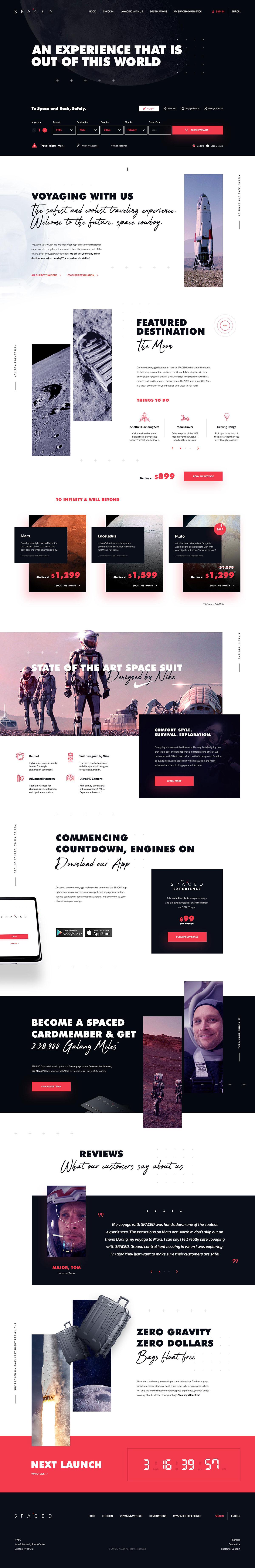 神秘宇宙!12款太空主题网页设计