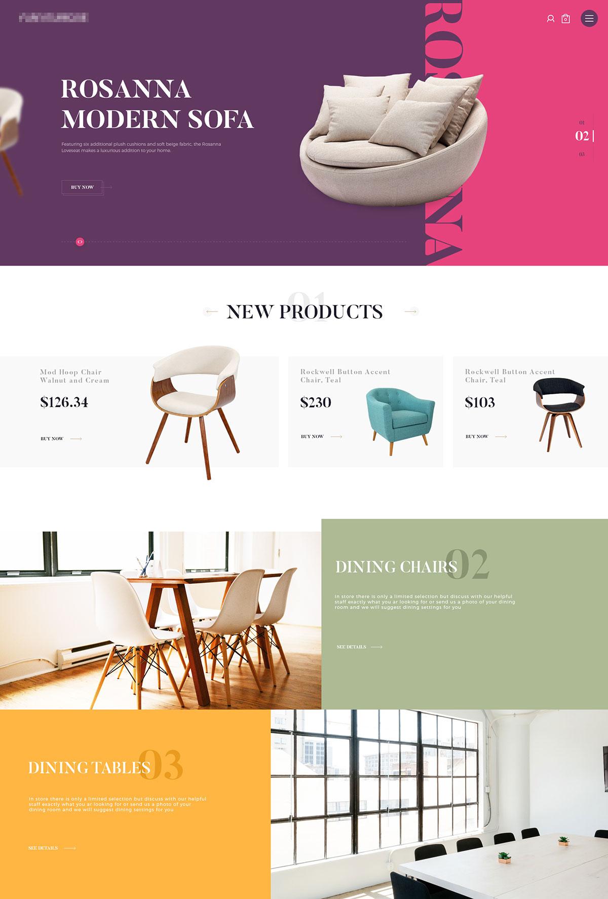 看完统统想搬回家!12款家具网页设计