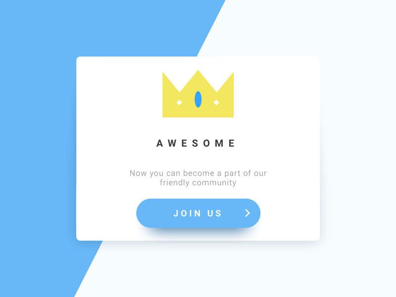 12款有趣的网页弹窗设计灵感