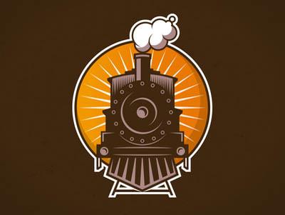 火车嘟嘟嘟!20款火车元素Logo设计