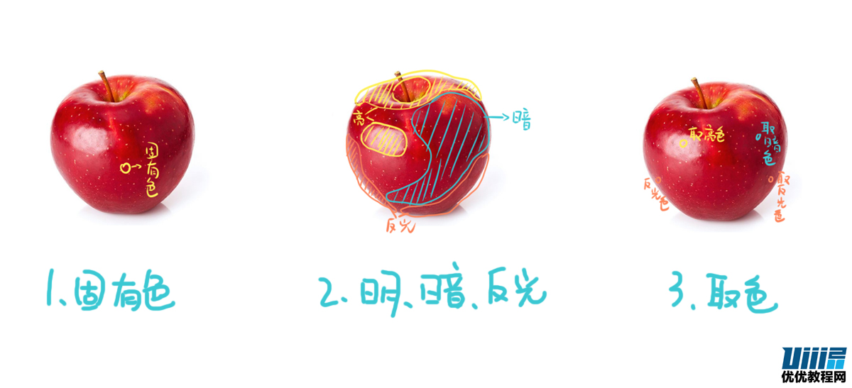 手绘教程!教你用SAI三步画一个写实苹果