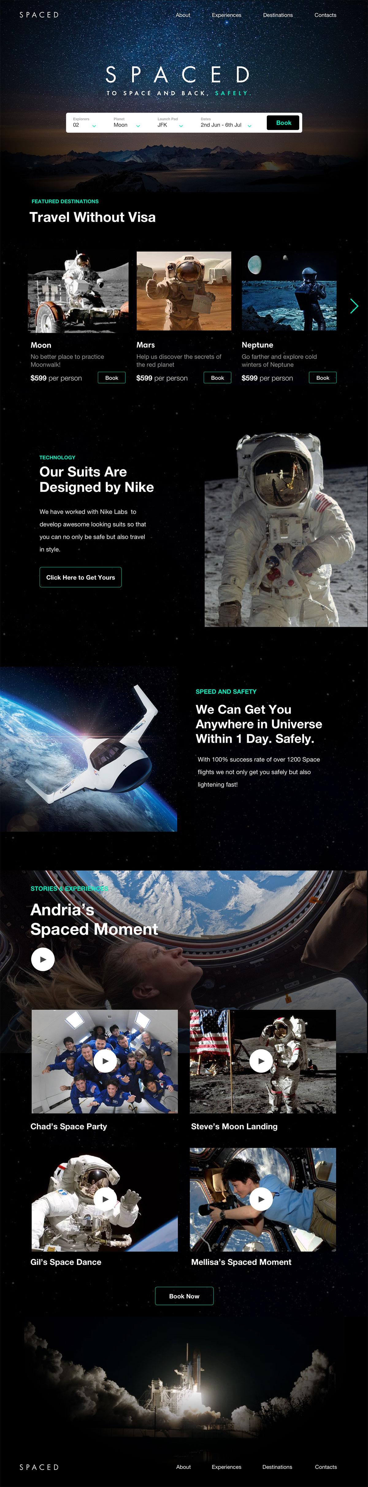 浩瀚宇宙!12款太空主题网页设计