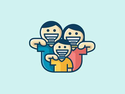 美满幸福!20款亲子元素Logo设计