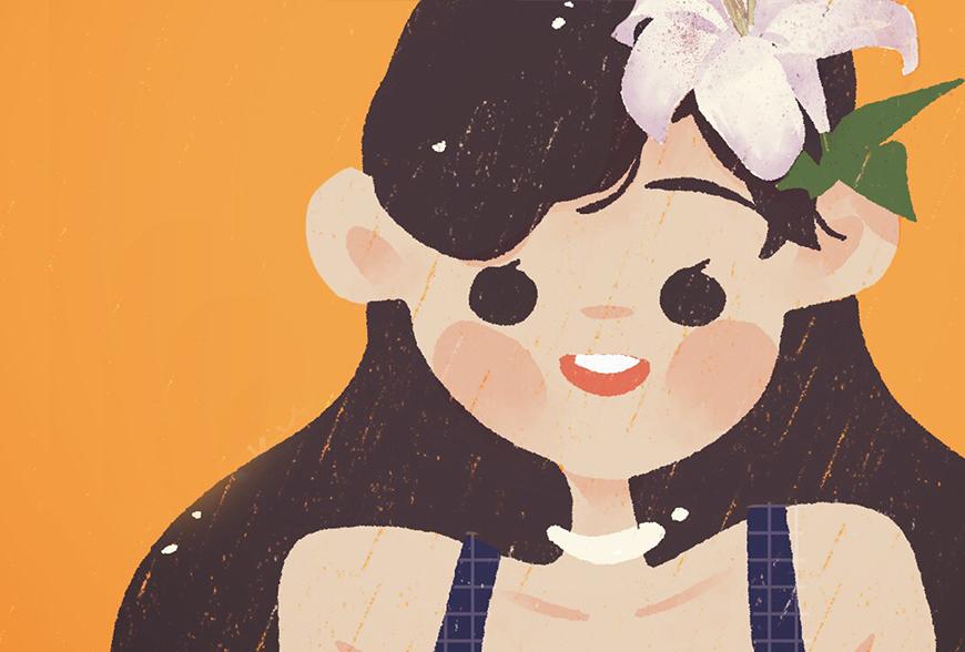 iPad绘画教程!教你用手指快速绘制戴花少女头像(附App推荐)