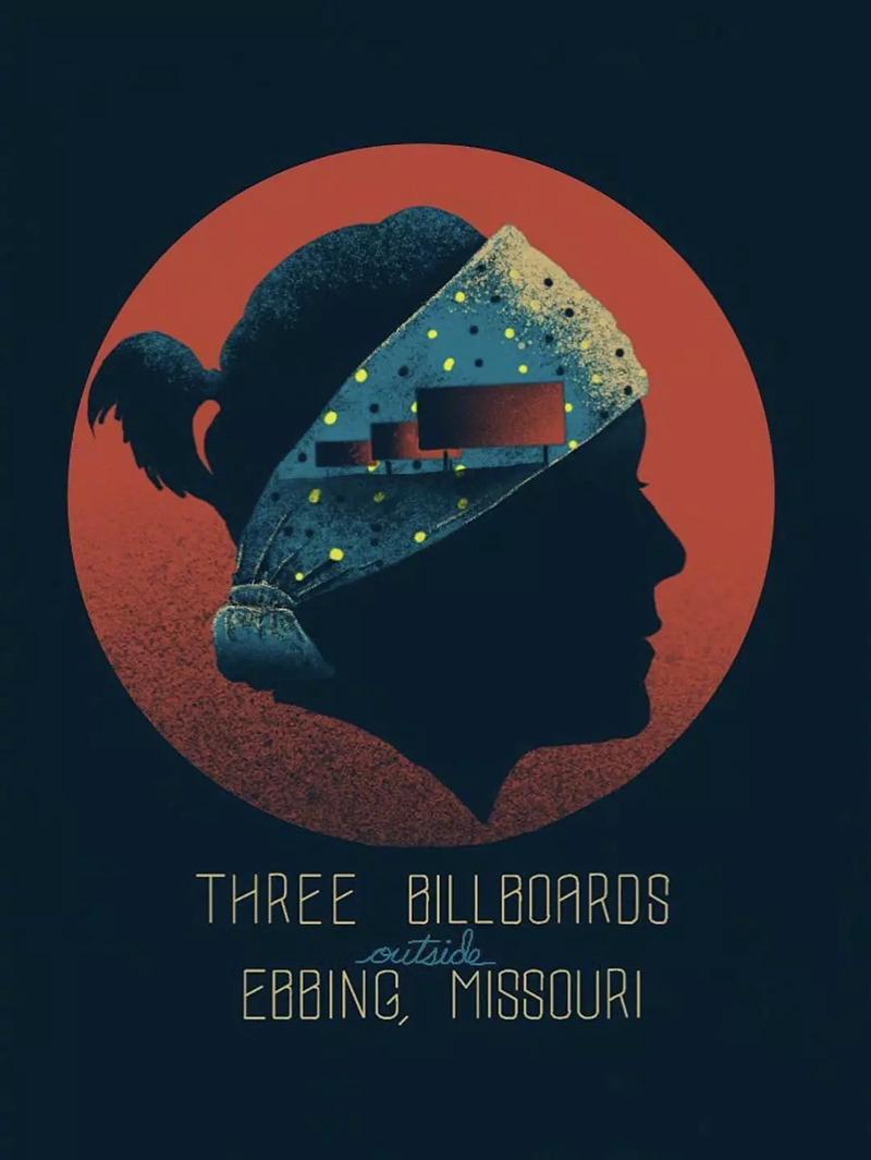 电影《三块广告牌》正式版+角色版海报
