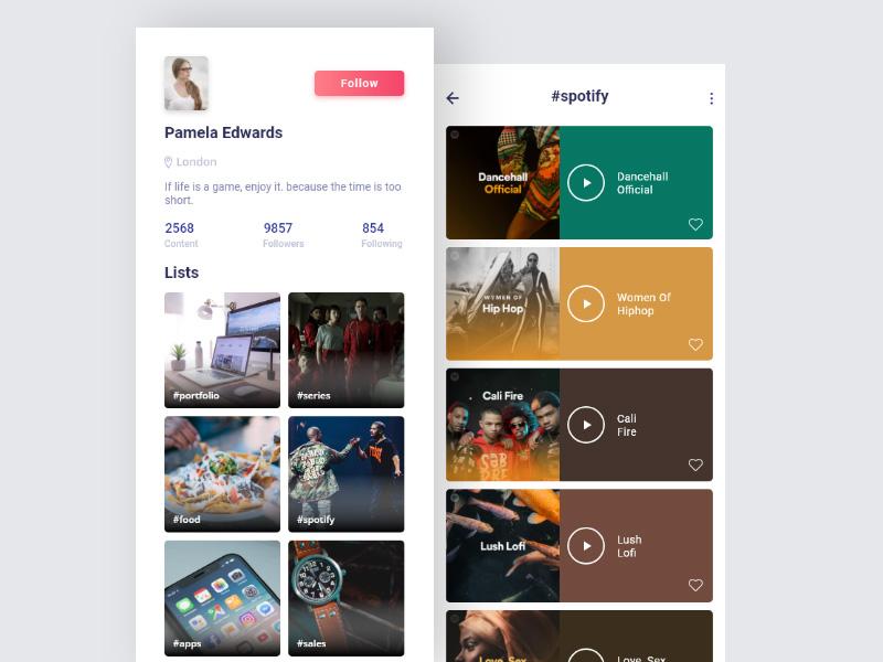 12种精致的用户中心展示方式