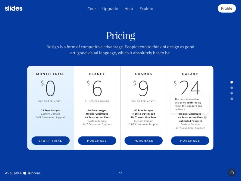 网页上的订阅价格标签如何设计?