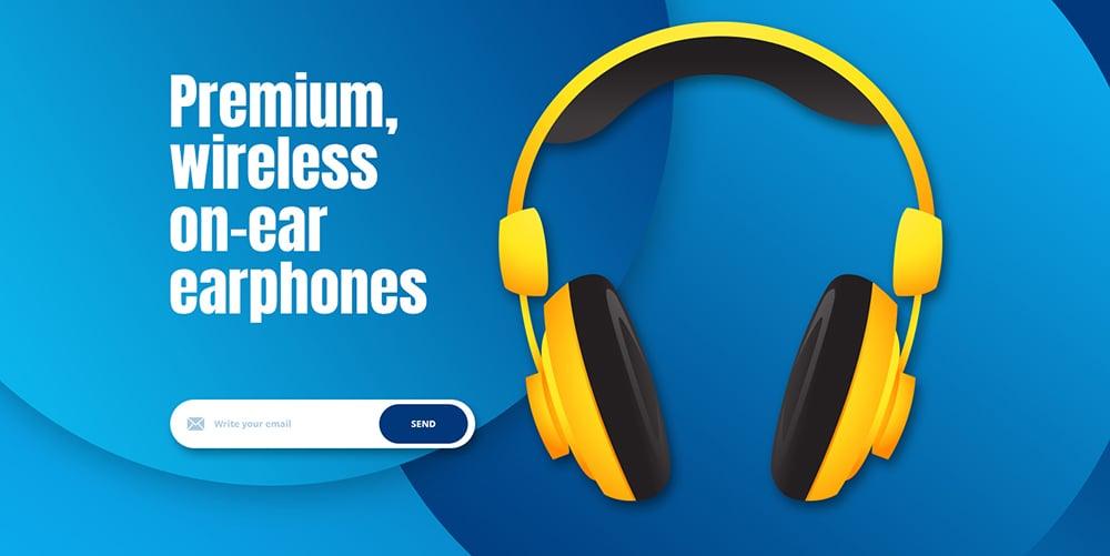 简约新时尚!20个耳机产品的头图设计