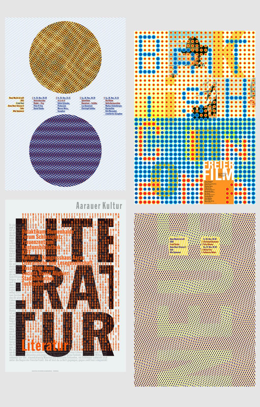 视觉幻象!76款欧普艺术海报设计