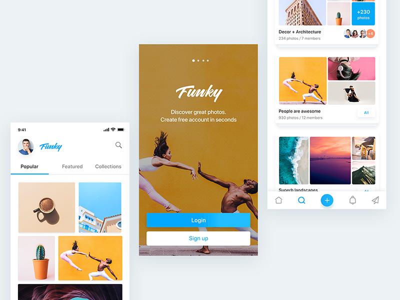 图片社交!12款图片分享类App设计