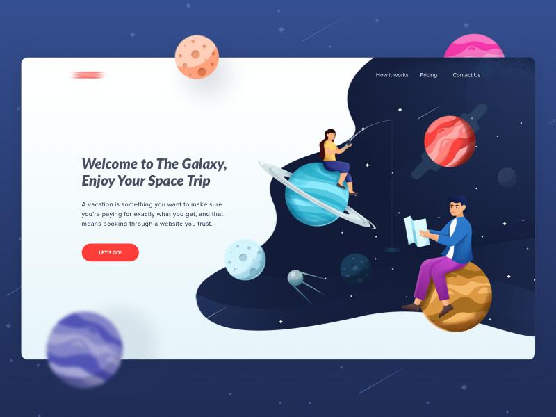 优秀的插画作品对网页设计能有多大提升?