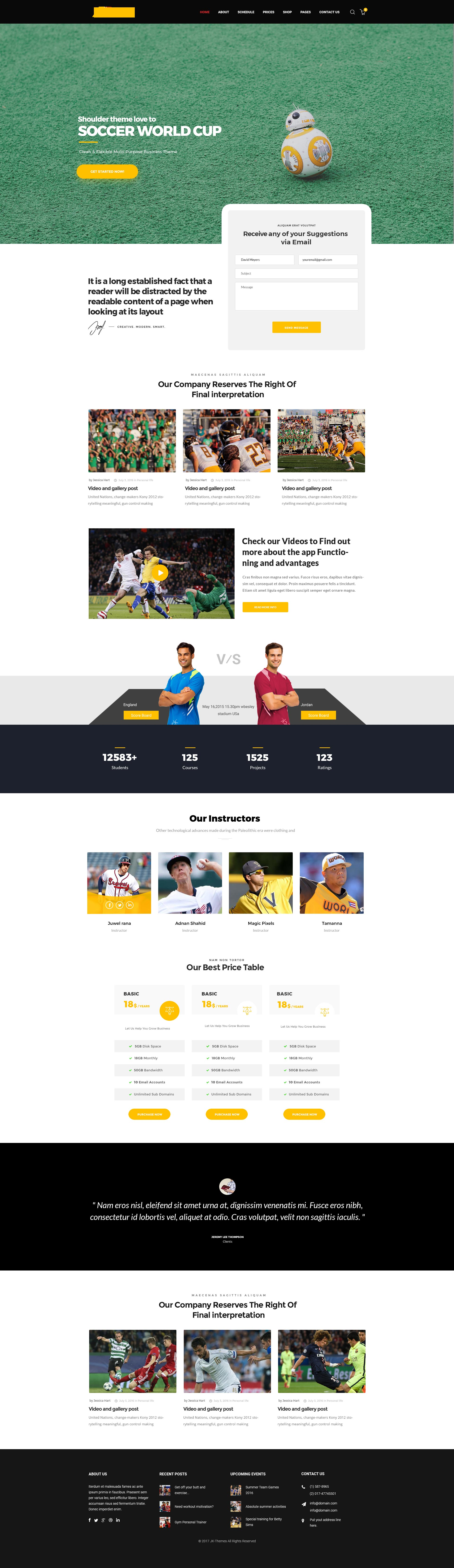 世界杯来了,这十款网页教你如何设计足球类专题页