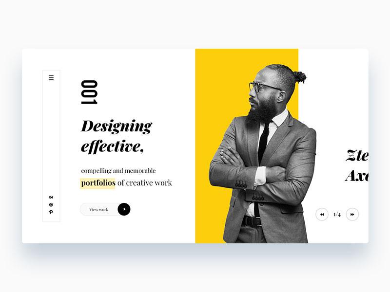 12款个性十足的个人网站首屏设计