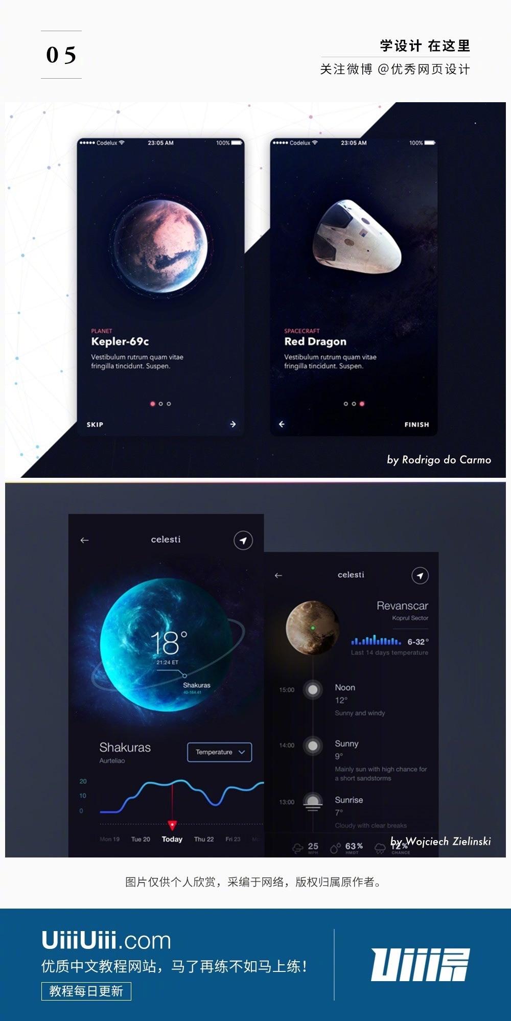 这18个精美UI界面来自太空