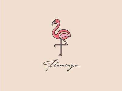 粉红大鸟!20款火烈鸟元素Logo设计