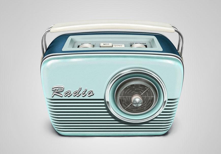 PS教程!教你制作拟物风格复古收音机