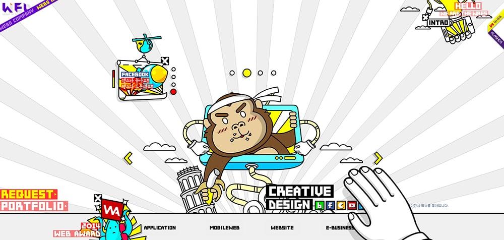 20个插画风网页头图Banner设计!