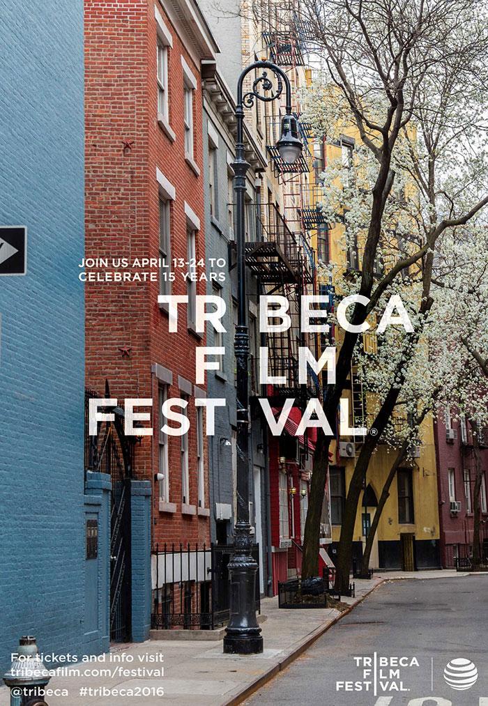 精致的翠贝卡电影节宣传海报设计