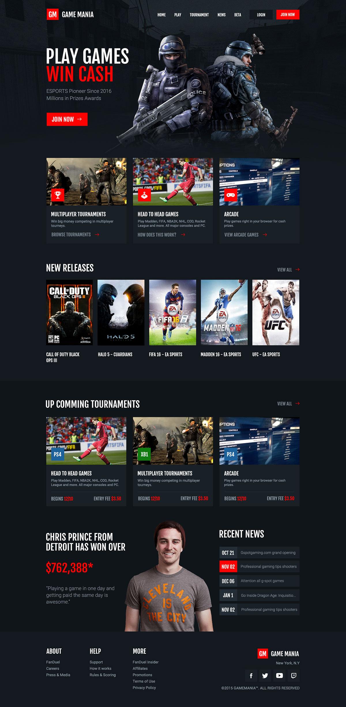 装备升级!12款游戏类专题页网页设计