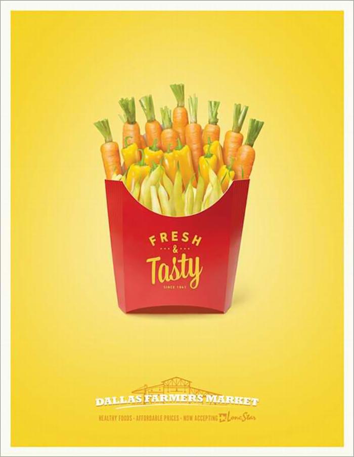 薯条的海报也能玩转创意哦