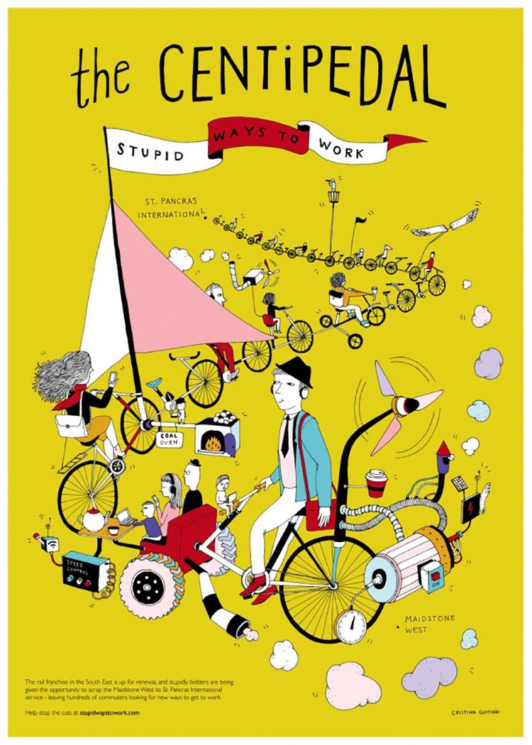 旅游与运输!主题创意海报设计