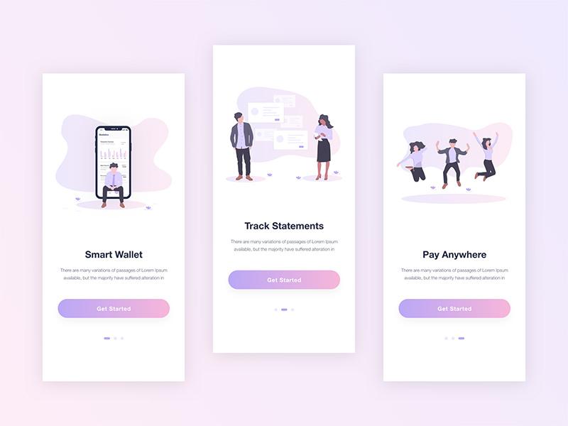 12款精致的App闪屏引导页设计