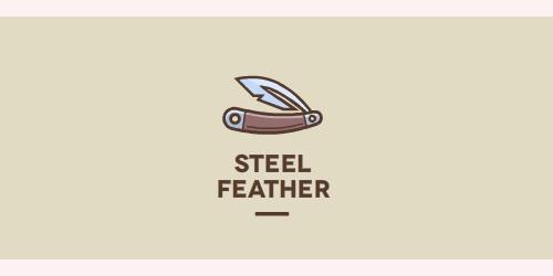 轻盈柔软!20款羽毛元素Logo设计