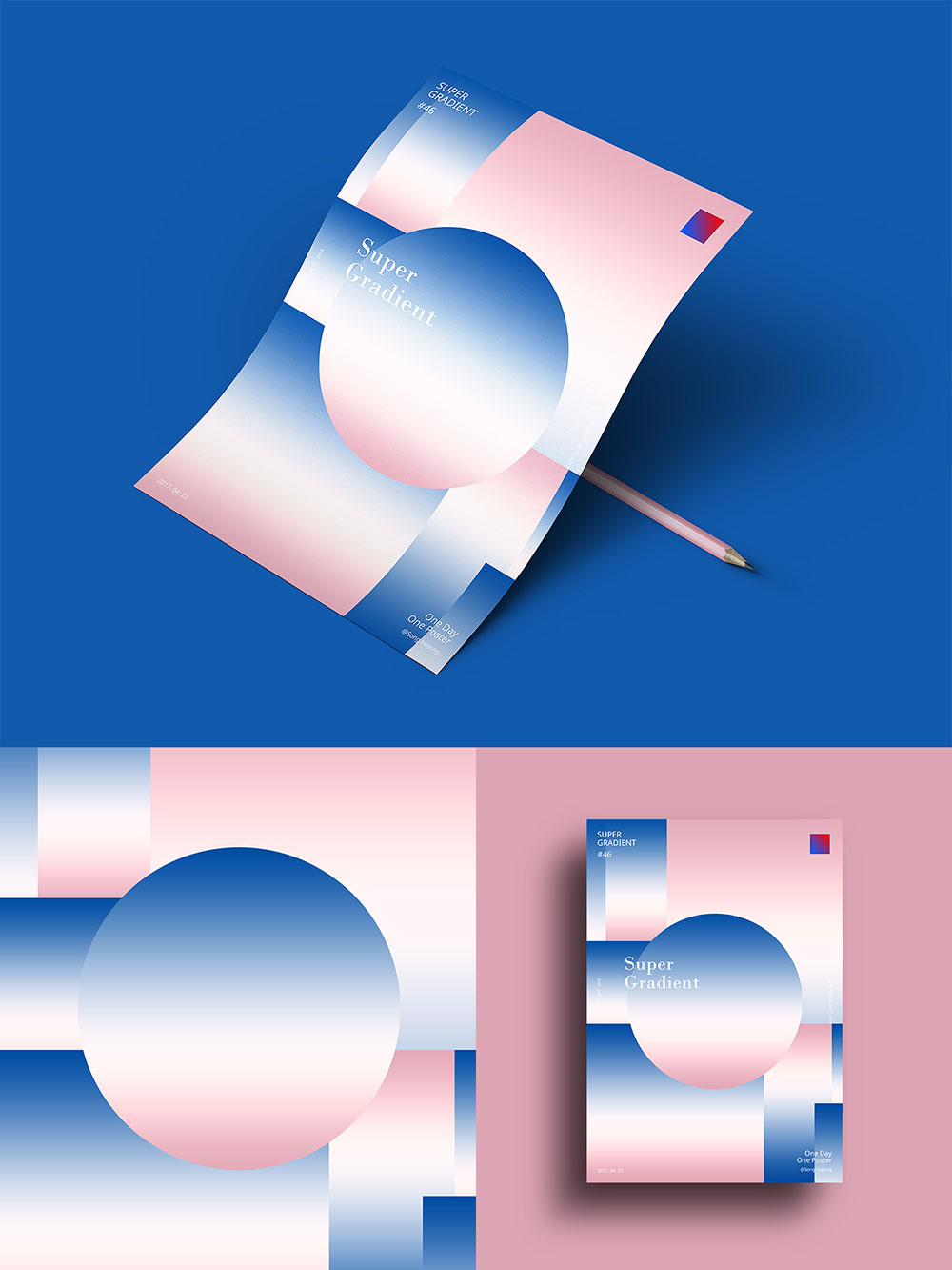 韩国设计师Song hojong的365天渐变海报练习