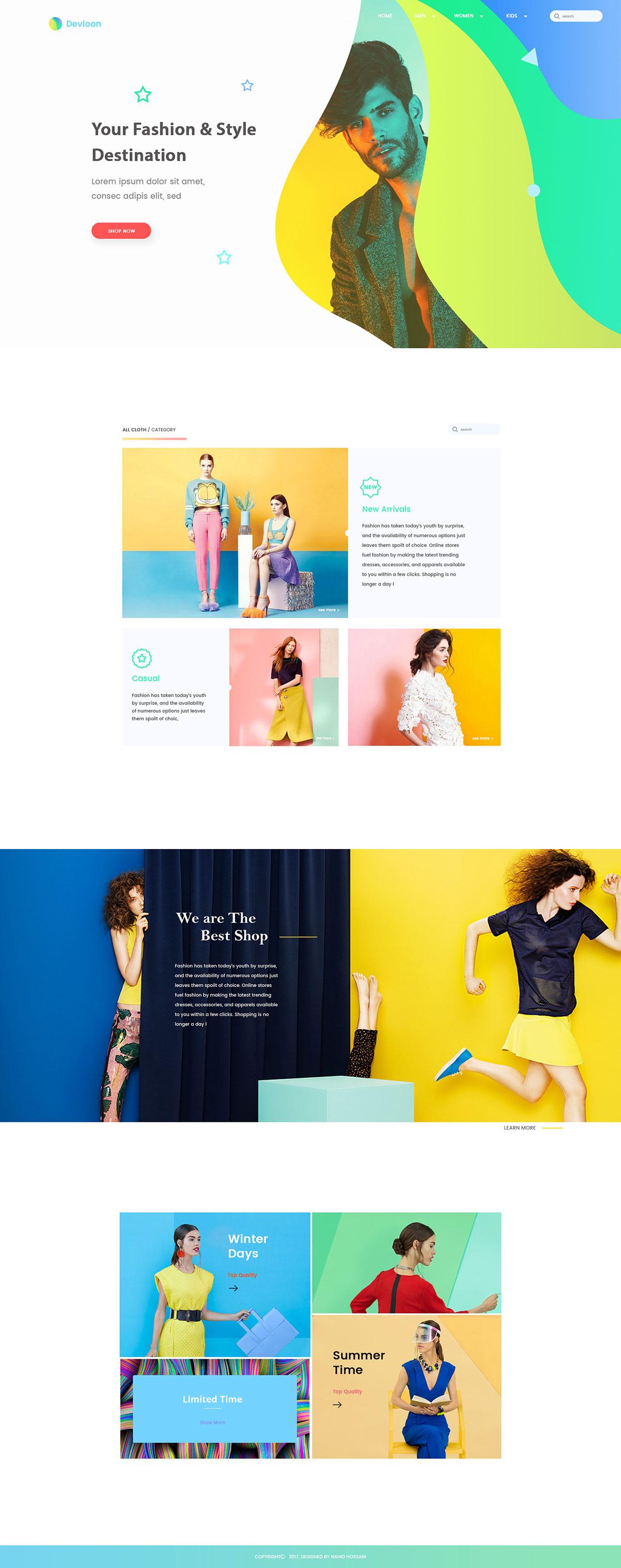 时尚类网页如何才能让视觉更加突出?