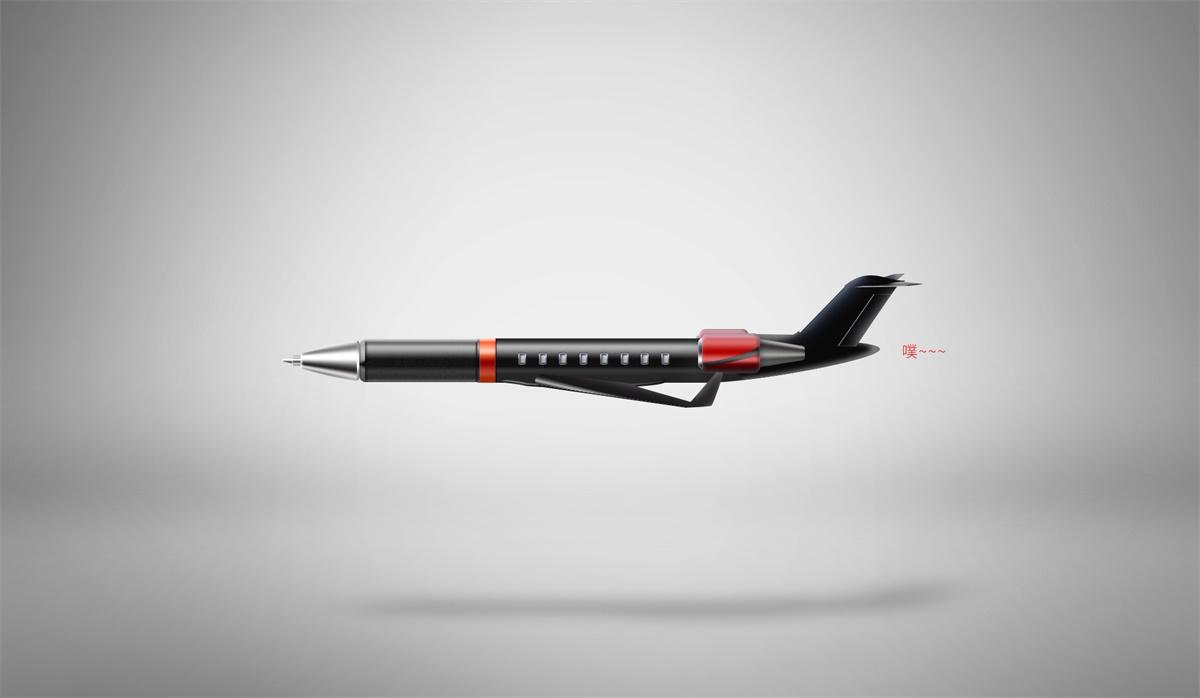 PS教程!如何用笔来组装一架飞机?