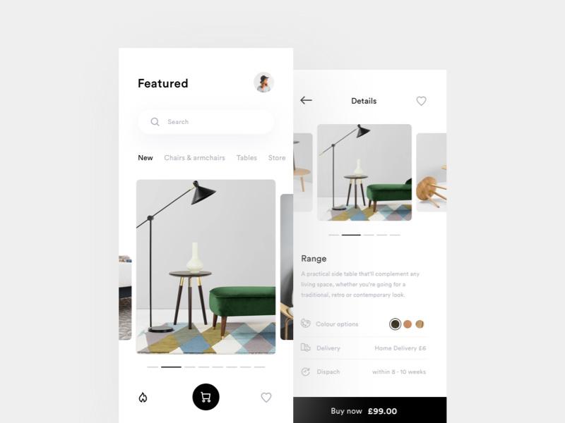 12款优秀的购物App展示页面设计